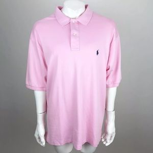 Polo Ralph Lauren Polo Shirt Pink Tall Large Long